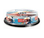Philips DVD+R double layer Cakebox 10 (8,5 GB) recordable DVD Transparant