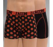 Zaccini 2-PACK ROYAL DOTS ZWART & ORANJE (Oranje, Zwart, Medium)