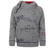 Marc O'Polo hoodie Grijs melange/donkerblauw/rood 92