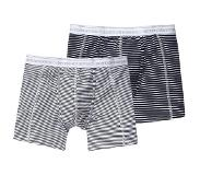 Scotch & soda 2-PACK STRIPES WIT & BLAUW (Blauw, Wit, Large)