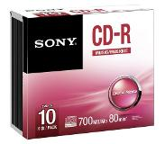 Sony 10CRM80SS CD-R audio disc 700 MB 10 stuks Slimcase