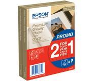 Epson Premium Glossy Photo Paper 2 voor de prijs van 1, 100 x 150 mm, 255g/m², 80 Vel