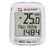 Sigma BC 14.12 ALTI Wireless bicycle computer Wit
