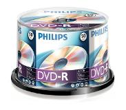Philips DVD-R Cakebox 50 (4,7 GB) recordable DVD Transparant