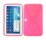 Carryme X-design roze TPU hoes Samsung Galaxy Tab 3 10.1