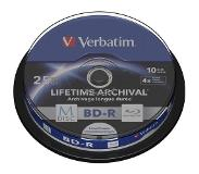 Verbatim 1x10 Verbatim M-Disc BD-R BluRay 25GB 4x Speed Cakebox printable