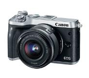 Canon EOS M6 Zilver + 15-45mm + 55-200mm