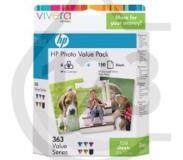 HP 363 serie foto value pack, 150 vel/10 x 15 cm