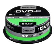 Intenso DVD-R 4.7GB, Printable, 16x 4.7GB DVD-R 25stuk(s)