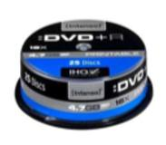 Intenso DVD+R 4.7GB, Printable, 16x 4.7GB DVD+R 25stuk(s)