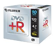 Fujifilm DVD+R 4,7Gb jewelcase 16x 4.7GB 10stuk(s)