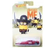 Hot wheels Despicable Me Minions auto Slikt Back rood 6 cm