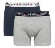 Tommy Hilfiger BOYS 2 PACK BOXERSHORTS / TRUNK GREY HEATHER / NAVY BLAZER, 134-140 (Blauw, Grijs, Navy, 134-140)