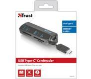 Trust 20968 USB 3.0 (3.1 Gen 1) Type-C Zwart geheugenkaartlezer