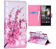 Carryme Flowers bookcase hoesje Huawei Ascend P6