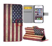 Carryme Amerikaanse vlag bookcase hoesje iPhone 4 / 4s