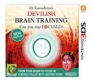 Games Nintendo - Dr Kawashima's Devilish Brain Training: Can you stay focused?, 3DS Basis Nintendo 3DS Nederlands video-game
