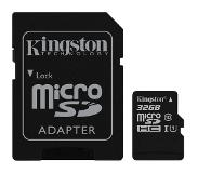 Kingston 32GB microSDHC CL10 UHS-I 45MB/s Read and 10MB/s Write with SD-Adapter