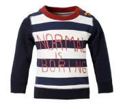 Beebielove sweater Donkerblauw/wit/rood 74