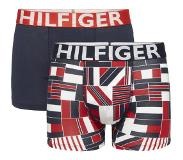 Tommy Hilfiger 2-PACK BOXERSHORTS / TRUNK BLOCK FLAG BOYS, 128/134 (Blauw, Navy, Rood, Wit, 128/134)