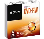 Sony 5 x DVD-RW Slim case (4.7GB)