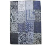 By-Boo Vloerkleed Patchwork - donker blauw - (170x240)