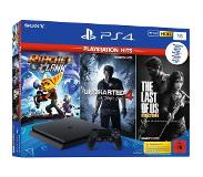 Sony PlayStation 4 1TB + The Last of Us + Uncharted 4 + Ratchet & Clank 1000GB Wi-Fi Zwart