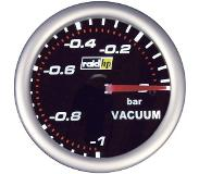 Raid Hp 660240 Inbouwmeter (auto) Vacuummeter Meetbereik -1 - 0 bar NightFlight Wit, Rood 52 mm