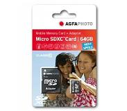 Agfa AgfaPhoto Mobile High Speed 64GB MicroSDXC Class 10 + Adapte