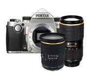 Pentax KP zilver + SMC DA 16-50mm + 50-135mm F/2.8 ED IF