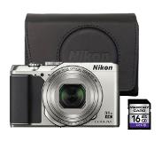 Nikon Coolpix A900 Zilver + 16GB + Case