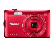 Nikon COOLPIX A300 Rood + 8GB + case