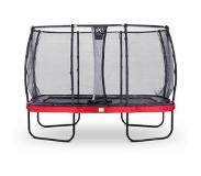 Exit Elegant trampoline rectangular 244x427cm with safetynet Deluxe - red
