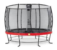 Exit Elegant trampoline ø366cm with safetynet Deluxe - red