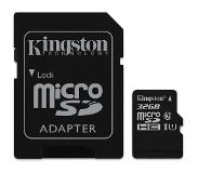 Kingston Canvas Select flashgeheugen 32 GB MicroSDHC Klasse 10 UHS-I