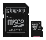 Kingston Canvas Select flashgeheugen 128 GB MicroSDXC Klasse 10 UHS-I