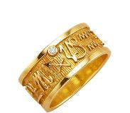 Diemer Gold Ring Sterrenbeeld Steenbok Diemer Gold geel