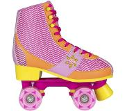 Nijdam Rolschaatsen Nijdam Girls Chevron Fuchsia Orange