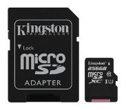 Kingston Canvas Select flashgeheugen 256 GB MicroSDXC Klasse 10 UHS-I