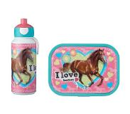 Mepal Lunchset Campus (pop-up drinkfles en lunchbox) - My Horse Acrylonitril butadieen styreen (ABS)
