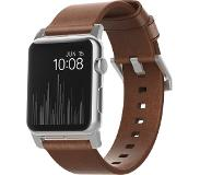 Nomad Apple Watch 42mm Leren Polsband Brown/Silver