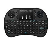 Rii Mini Wireless Keyboard i8+ RF Draadloos QWERTY Engels Zwart