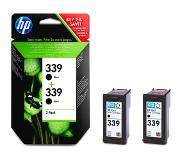 HP 339 2-pack Black Inkjet Print Cartridges Original Multipack