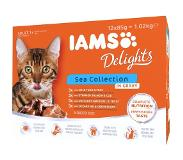 IAMS Delights kattenvoer 48 x 85 g - Sea Mix in saus
