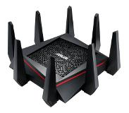 Asus RT-AC5300 draadloze router Tri-band (2.4 GHz / 5 GHz / 5 GHz) Gigabit Ethernet Zwart, Rood