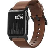 Nomad Apple Watch 42mm Leren Polsband Brown/Black