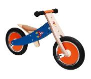 Scratch Balance Bike 12 Inch Junior Rood/Blauw