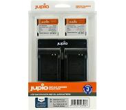 Jupio Kit: 2x Battery DMW-BCM13E 1150mAh + USB Dual Charger
