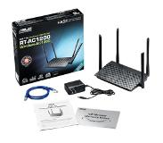 Asus RT-AC1200 draadloze router Dual-band (2.4 GHz / 5 GHz) Fast Ethernet Zwart