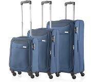 Carryon Air Trolleyset 3pcs steel blue Zachte koffer